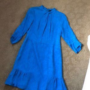 Nanette Lepore blue silk dress